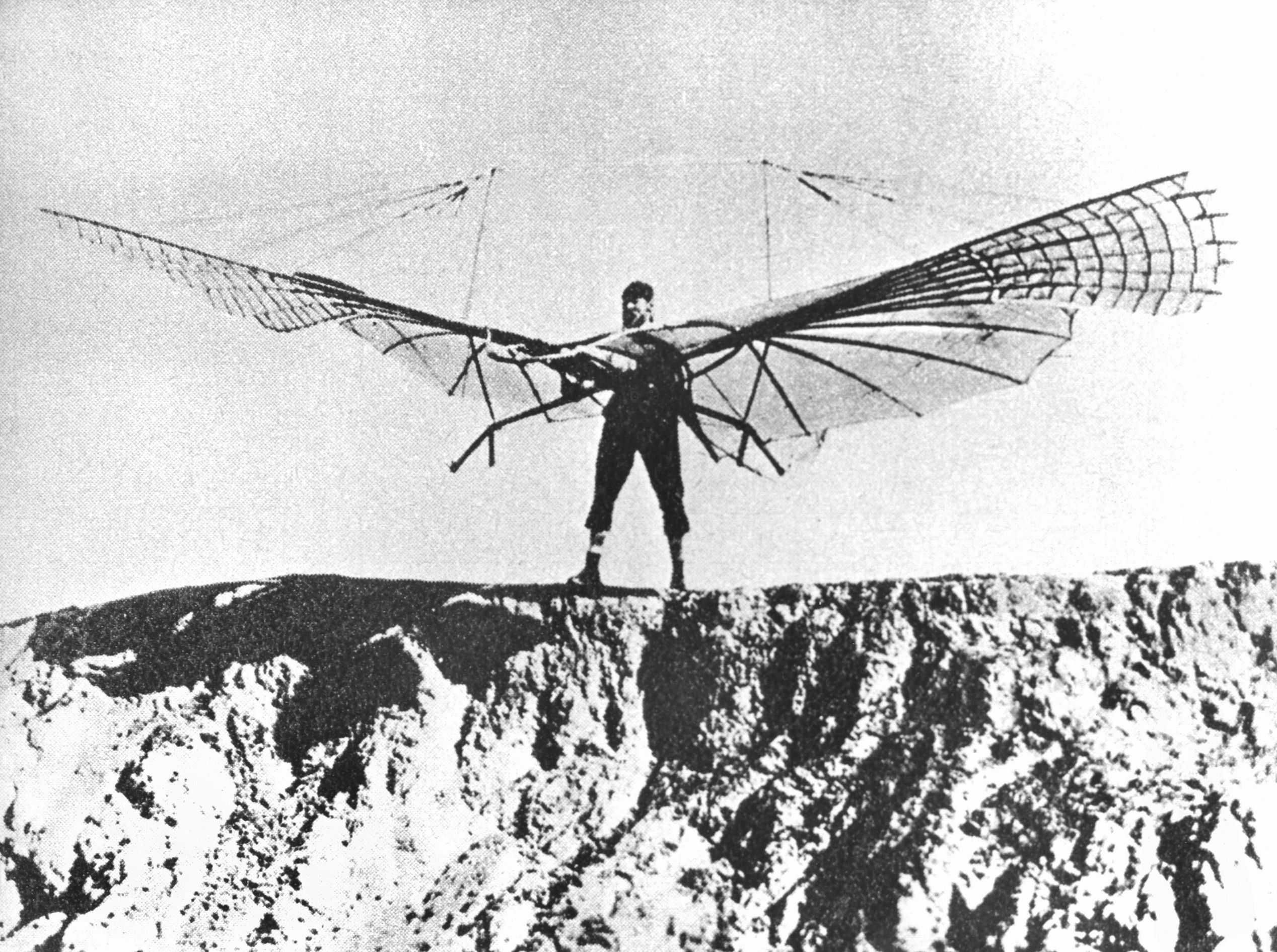 Phrase otto lilienthal first gliders