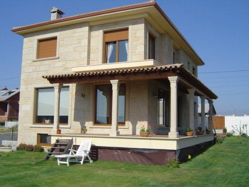 Revestimiento de viviendas en piedra exteriores y fachadas granito y piedra acabados casa - Revestimiento fachadas exteriores ...