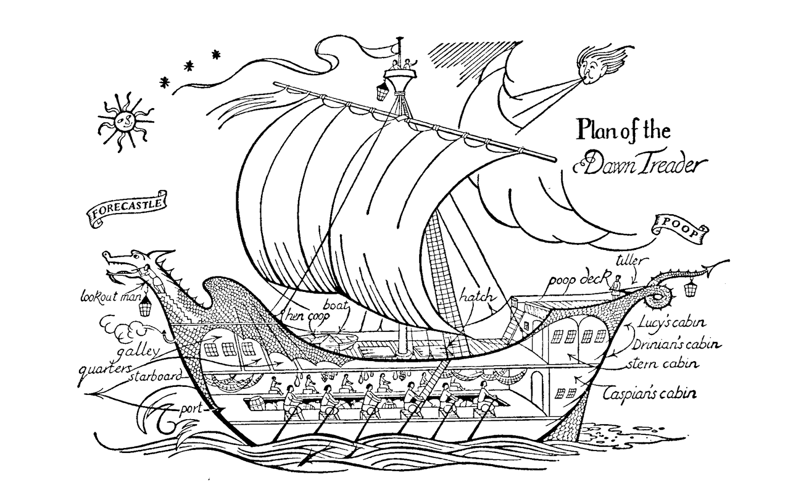 Pauline Baynes illustration for Voyage of the Dawn Treader ...