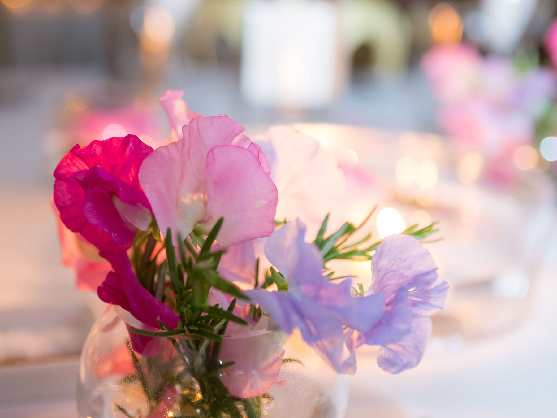 Sweet Peas Direct Wedding Table Decorations