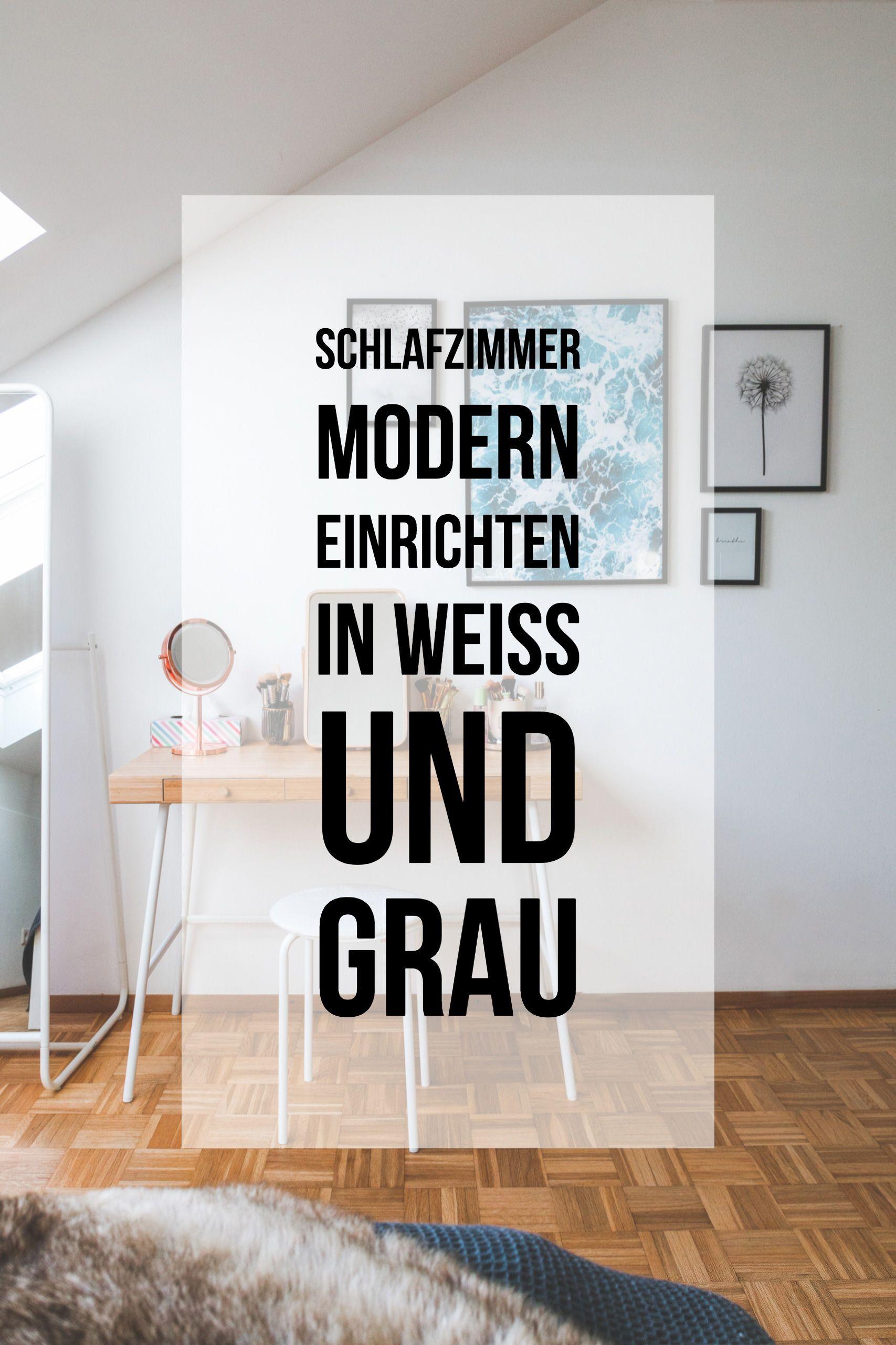Schlafzimmer modern grau  Schlafzimmer modern einrichten in Weiß und Grau mit Alpina Feine ...