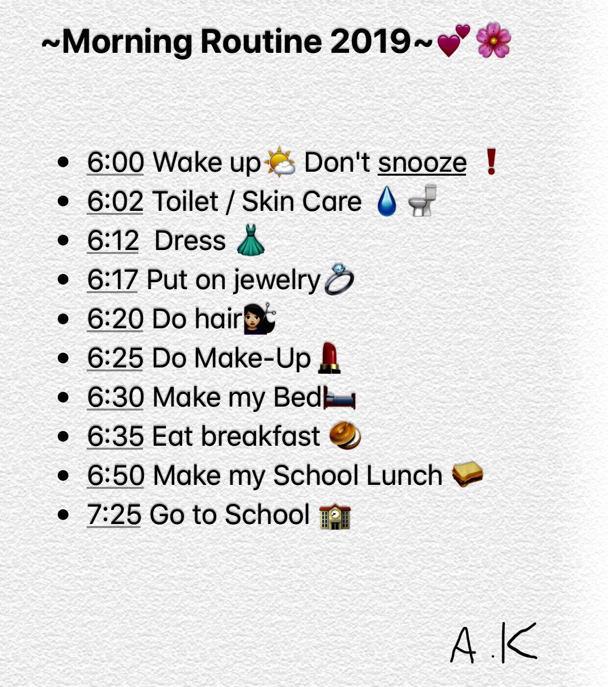 Morgen Routine