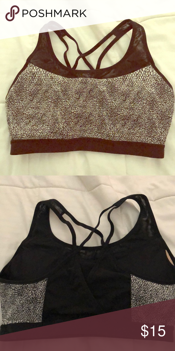 87dfb024c3a35 Calia Racerback Sports Bra Black and White sports bra by Calia. Great  condition. Only worn once. CALIA by Carrie Underwood Intimates   Sleepwear