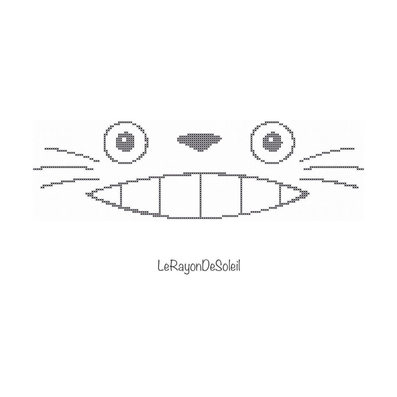 Totoro eyes spirit simple portrait Japanese manga Modern cross ...