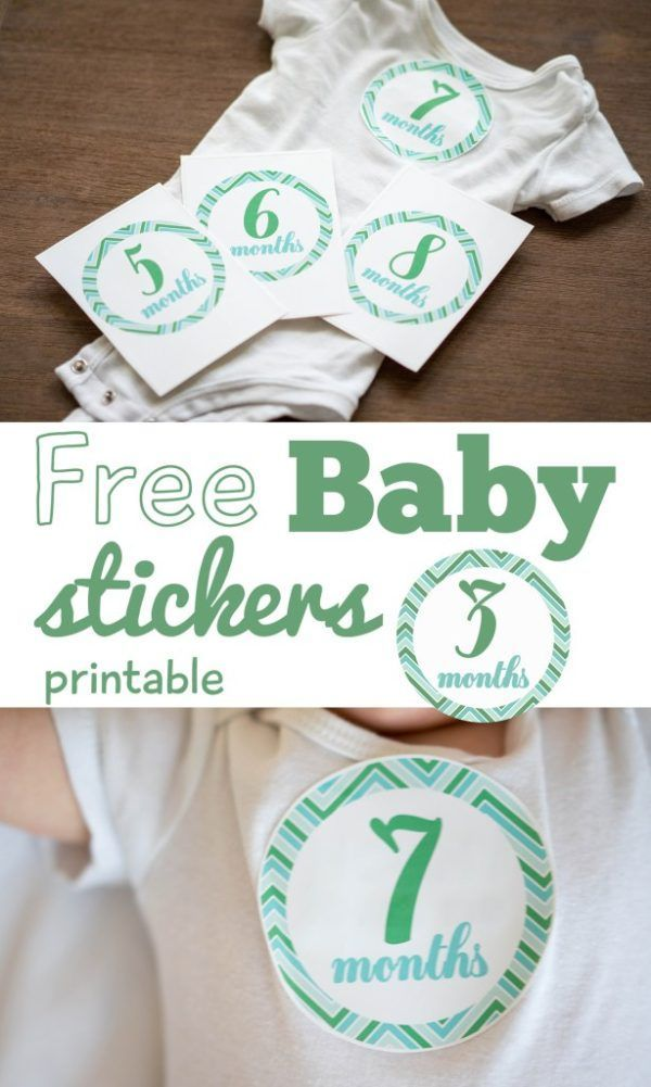 9 Free Printable Monthly Baby Stickers Baby Stickers Monthly Baby