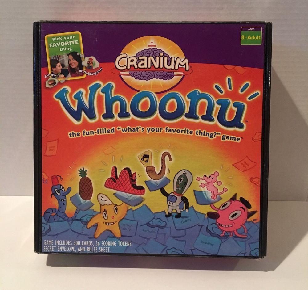 Cranium Whoonu 2005 100 Complete 2 Sealed Decks Great Gifts