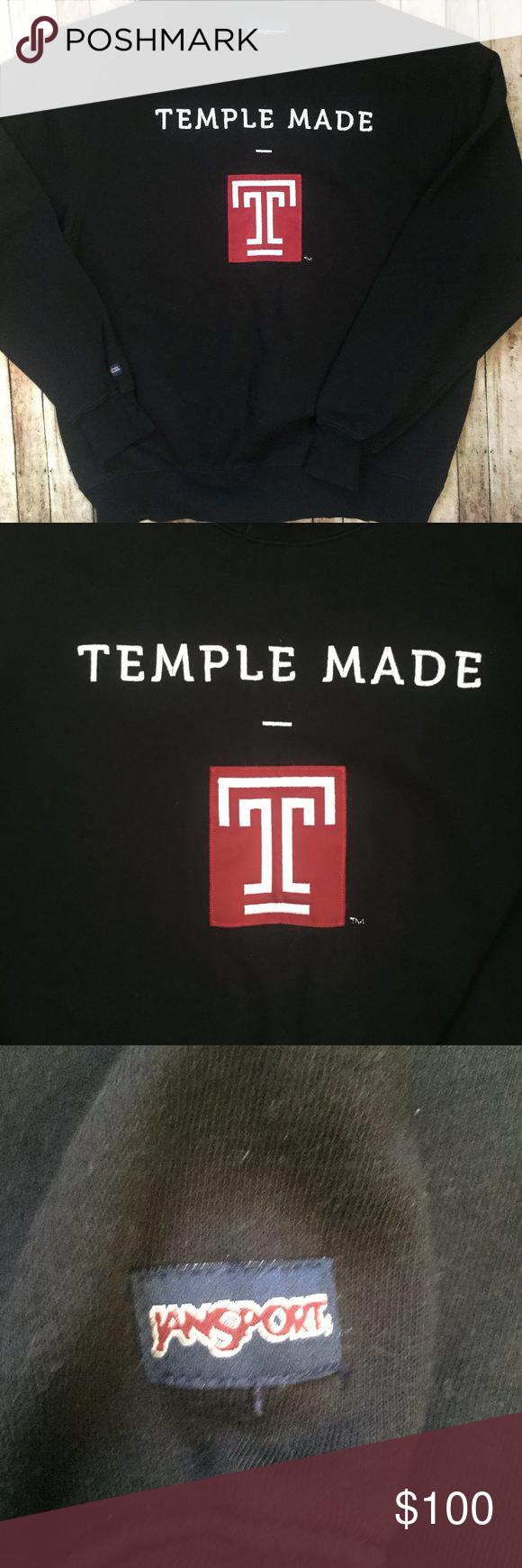 Vintage Temple University Jansport Sweatshirt University Sweatshirts Vintage Sweatshirt Sweatshirts [ 1740 x 580 Pixel ]