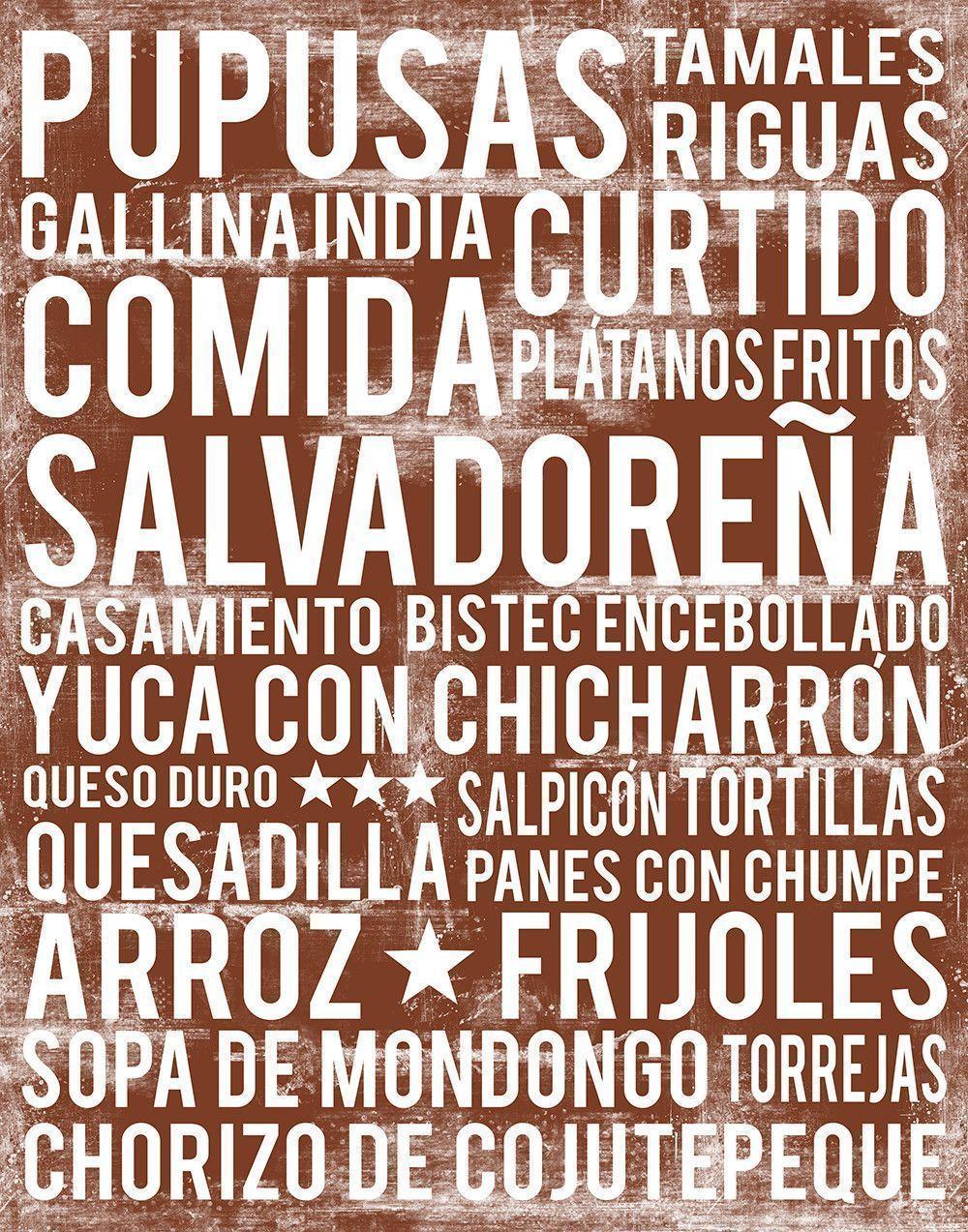 El Salvador Kitchen Wall Art El Salvador Food Print El Salvador Word Art Elsalvadorfood El Salvador Food S Salvador Food Salvadoran Food Pastelitos Recipe