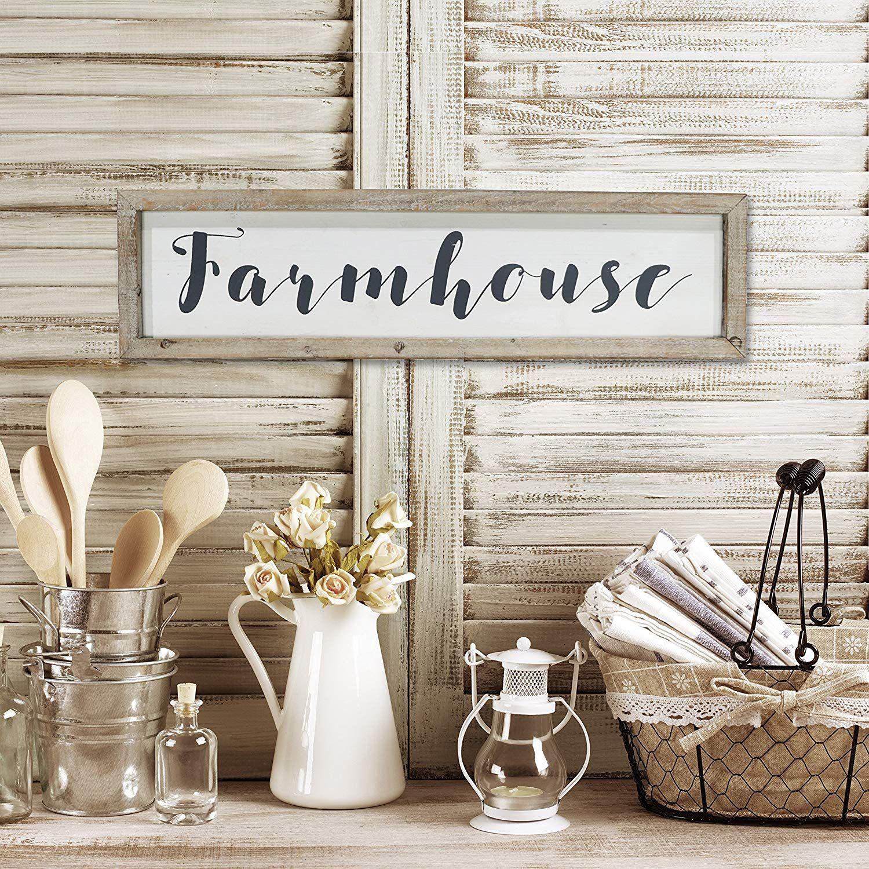 Farmhouse script sign. This farmhouse style sign would