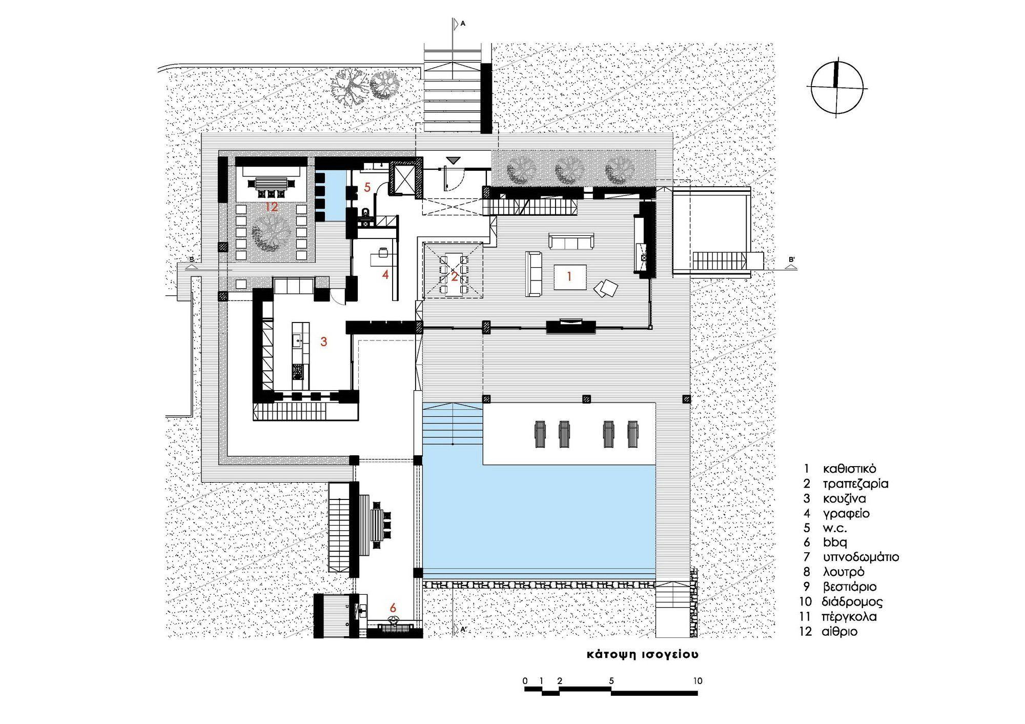 Gallery Of Stone House In Anavissos Whitebox Architects 41 Architect House Stone House Architectural House Plans