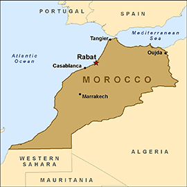 Map Morocco VOLUNTEERING Pinterest Morocco Africa And - Portugal morocco map