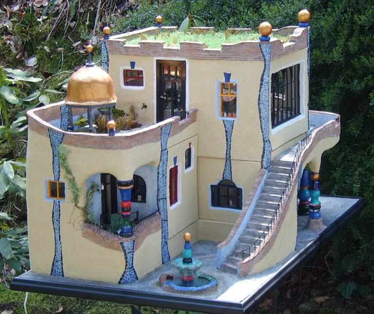house in hundertwasser s way the things i. Black Bedroom Furniture Sets. Home Design Ideas