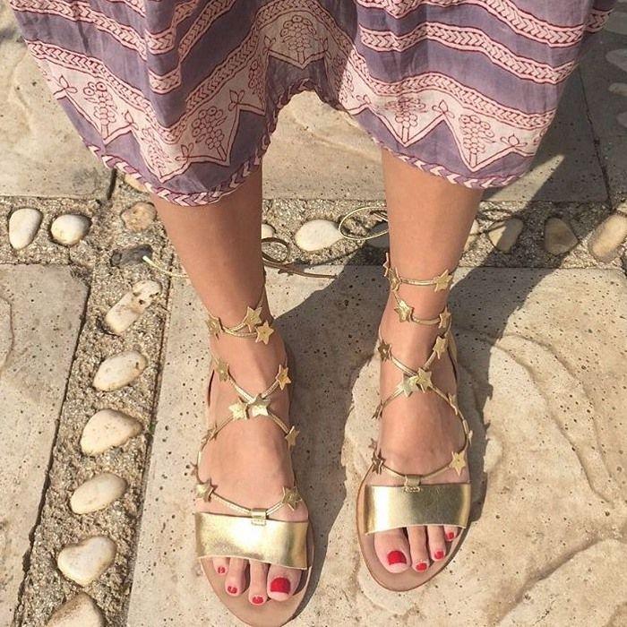 79cf2dc26991 Star-Studded Loeffler Randall  Starla  Gladiator Flat Sandals ...