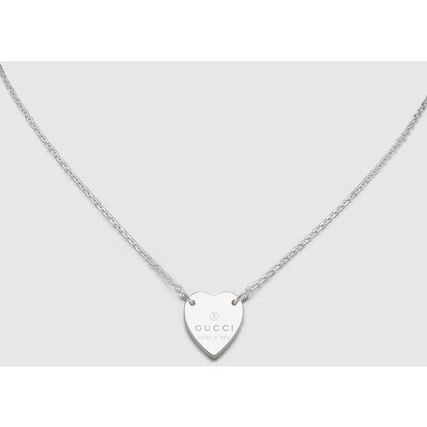 Gucci necklace with gucci trademark engraved heart pendant