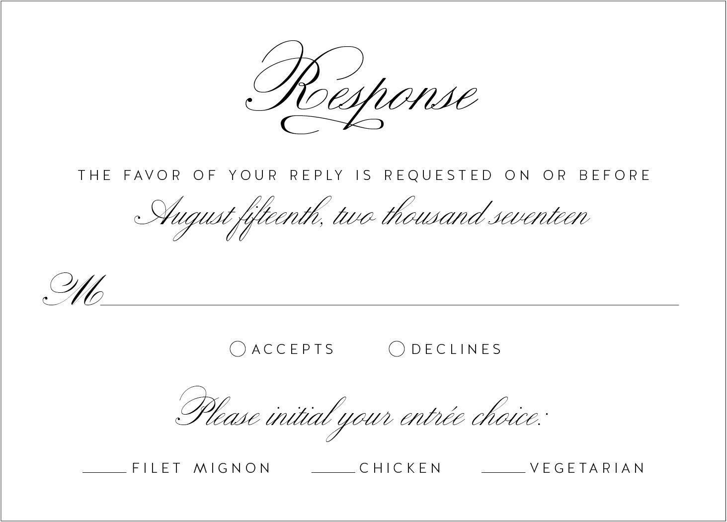 wedding invitation wedding invitations and response cards Free