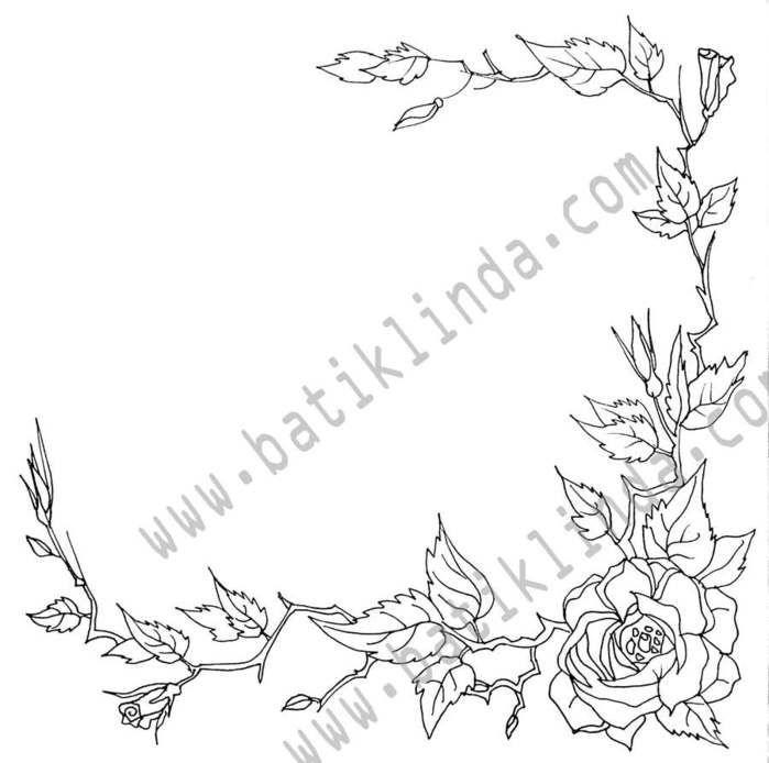 Рисунки-шаблоны-трафареты для росписи ткани-цветы ...