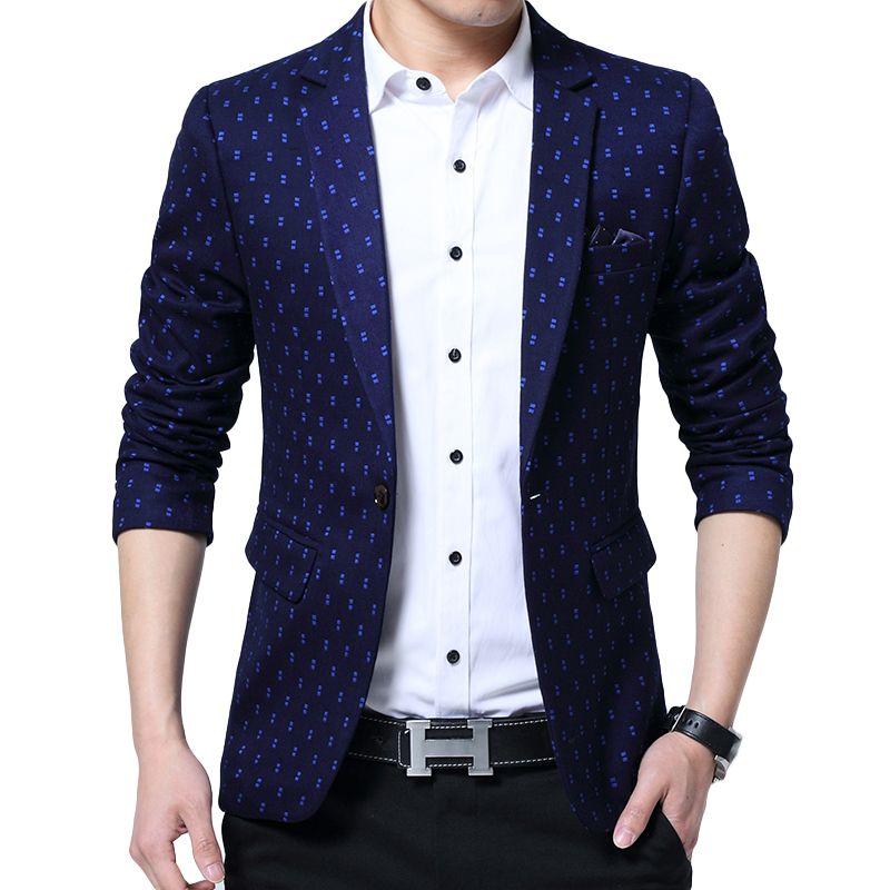 752ceb5f7fd Click to Buy    Brand Blazer Men fashion Casual Slim Blazers 2017 Spring