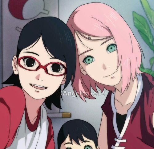 Immagine Di Anime, Sakura, And Sarada