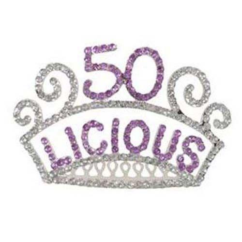 50th Birthday Rhinestone Princess