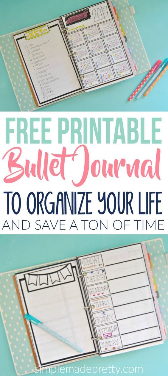 This free printable bullet journal will save you a ton of time! | To ...
