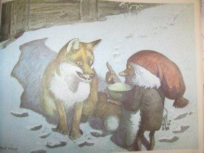 Tomten And The Fox Illustratie Gnomen Kabouter