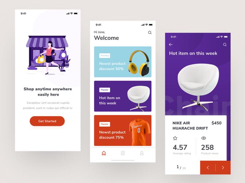 E Commerce Apps Typography App Ecommerce App Design