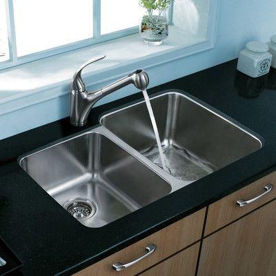 vigo 32 inch undermount 60 40 double bowl 18 gauge stainless steel rh pinterest com
