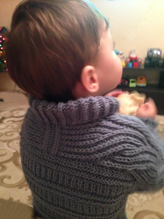 Brioche Stitch Baby Sweater Brioche Stitch Baby Sweater #puntp #bebe ...