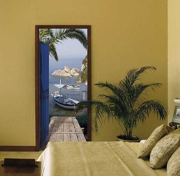Vinilo Para Puerta Sea View Ref 15313893 Leroy Merlin Vinilos Para Puertas Pegatinas De Puertas Puertas