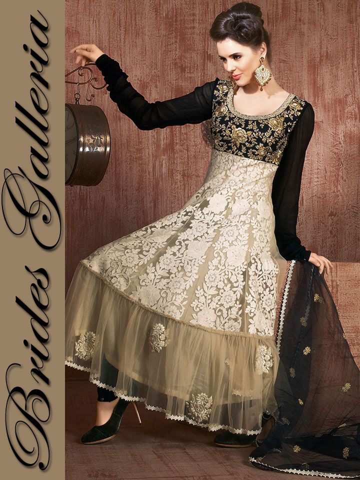 Beige Net Churidar Kameez party wear churidar kameez 2013 [BGSU 9035] - US $149.35