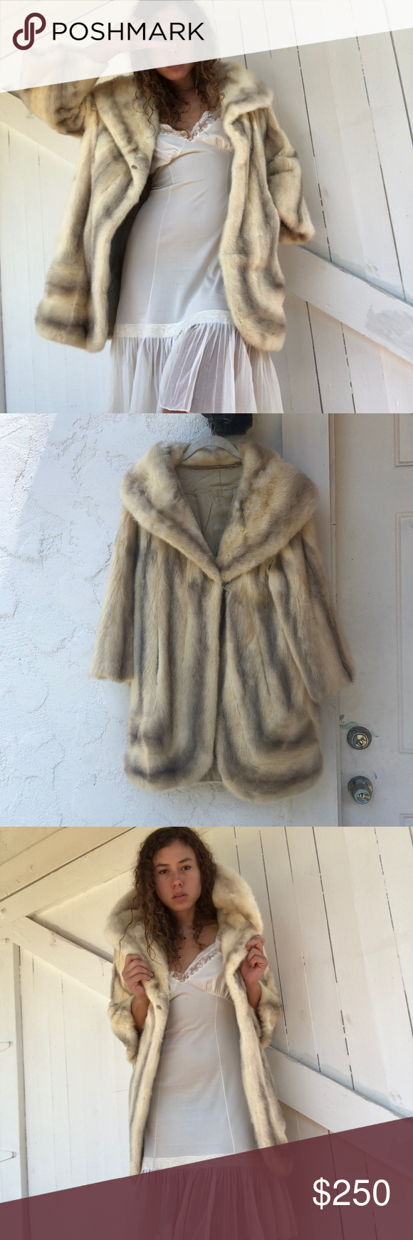 7e0e9237a Cream mink fur coat