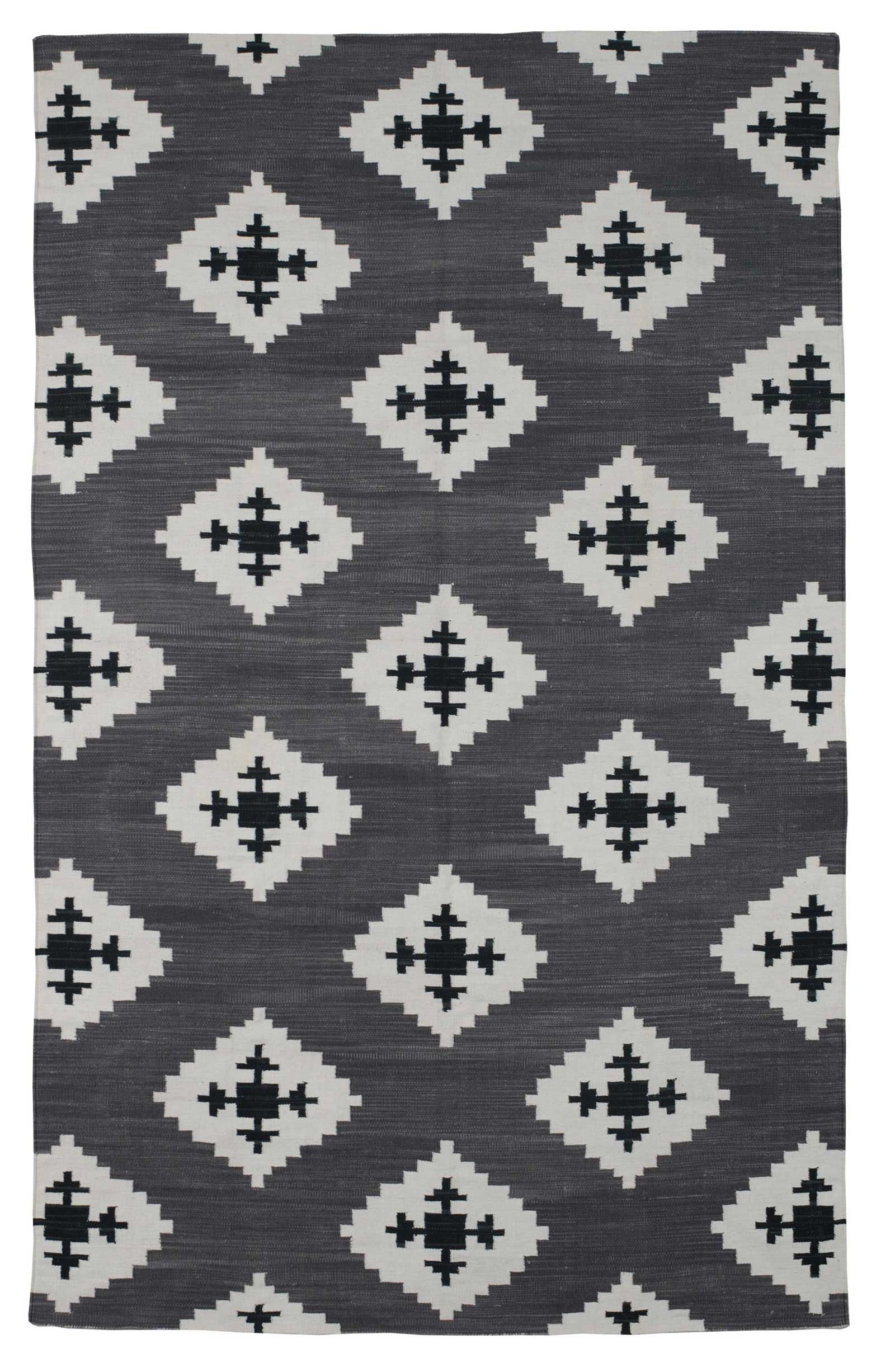 Udaipur Black By The Rug Company Cotton Flatweave