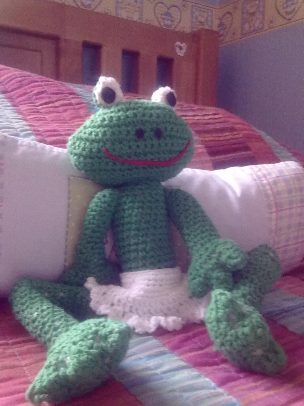 Rana A crochet en algodón verde