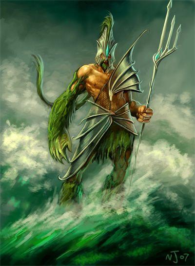 Illustration Of Poseidon The God Of The Sea Greek Roman