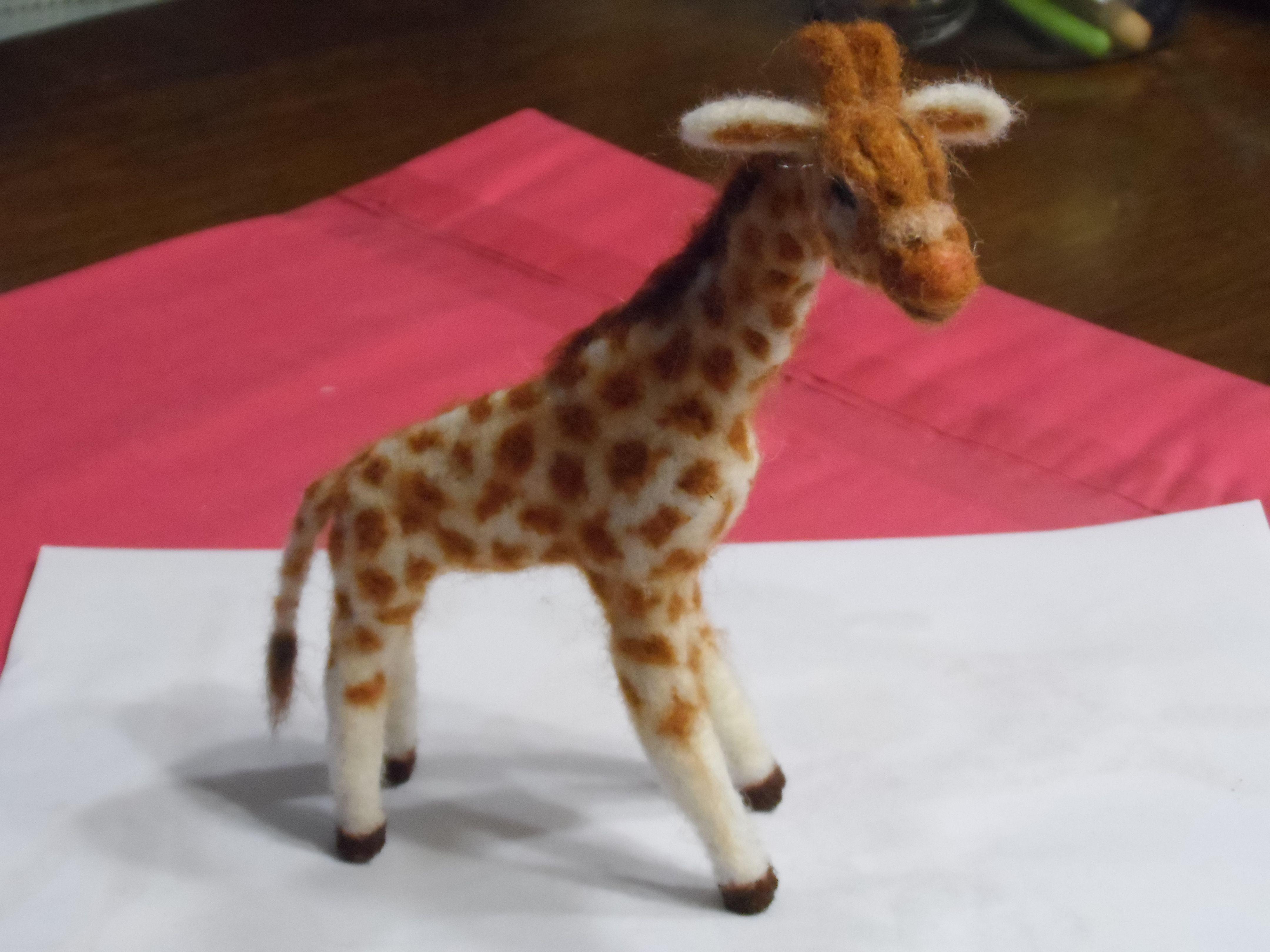 felted baby giraffe