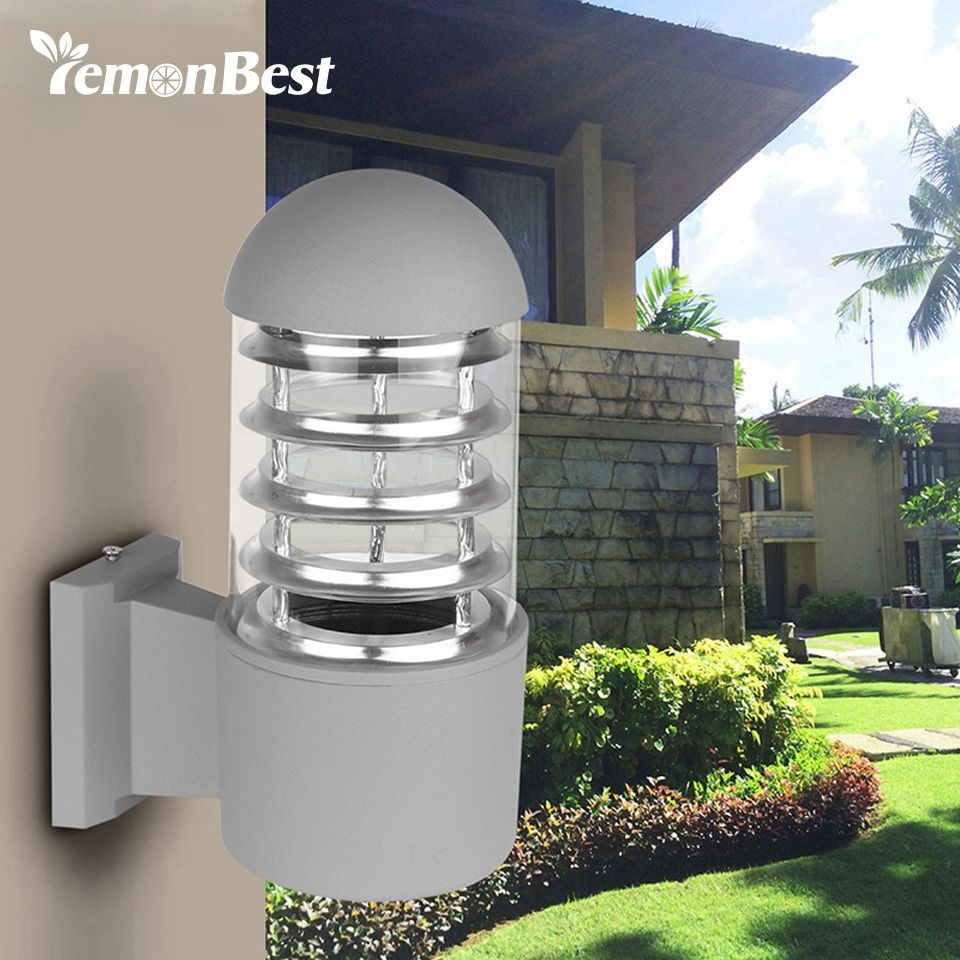 Waterproof aluminum glass lampshade led wall light fixtures ip65 waterproof aluminum glass lampshade led wall light fixtures ip65 wall lamp e27 socket ac 85 240v outdoor lighting without bulb workwithnaturefo
