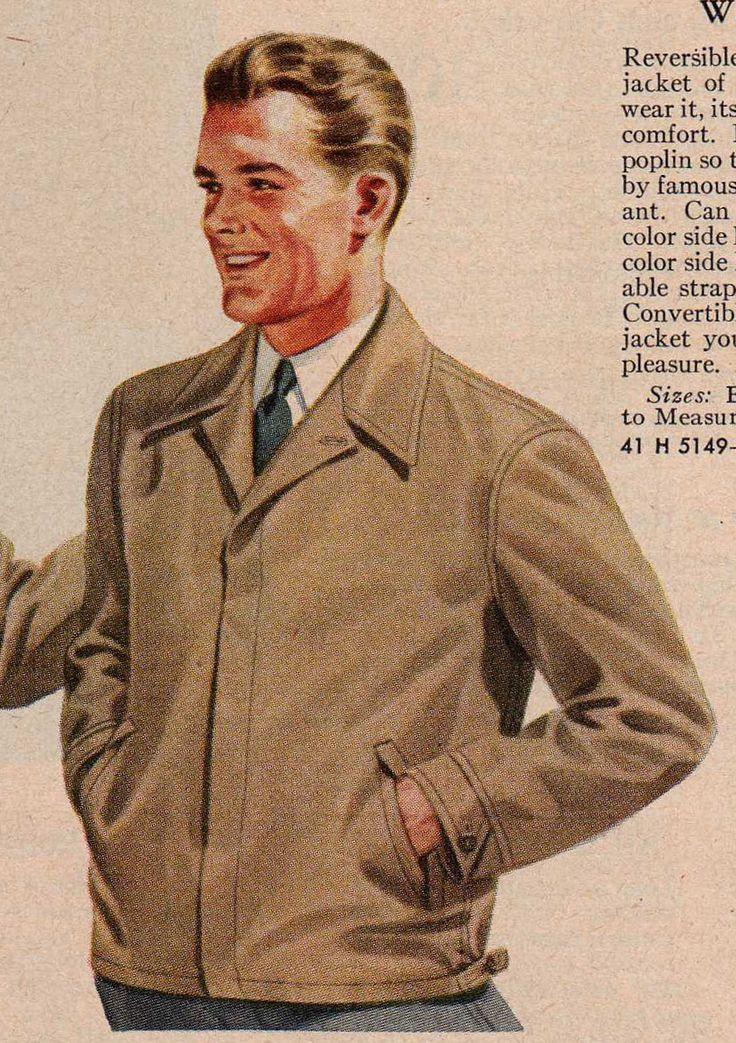 1940's Men's Jacket   1940s mens fashion, Mens clothing ...