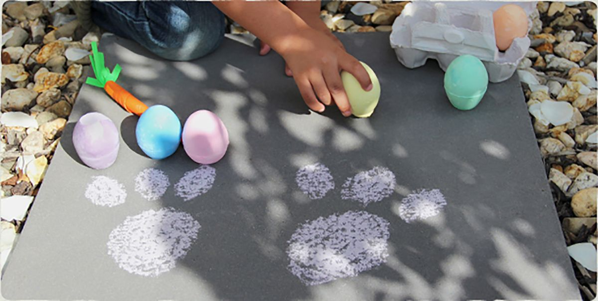 Easter bunny paw prints bunny paws easter craft