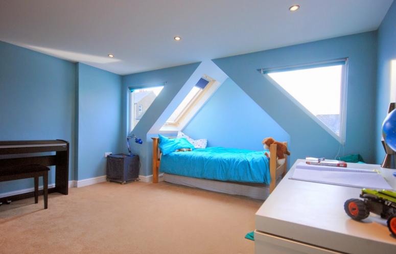 Loft Conversion Bedroom Design Ideas Blue Wall Color For Kids
