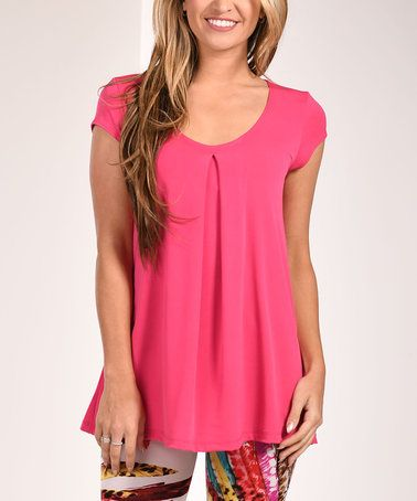 Look at this #zulilyfind! Pink Pleat-Front Tunic #zulilyfinds