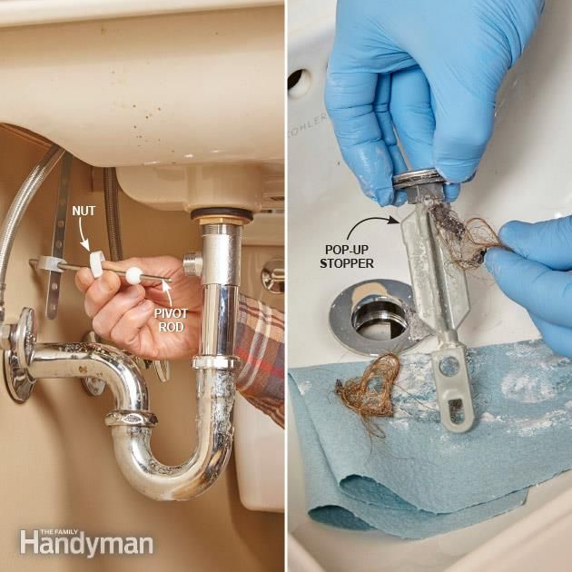 How to Prevent Clogged Drains. Clogged DrainsBathroom SinksClogged ...