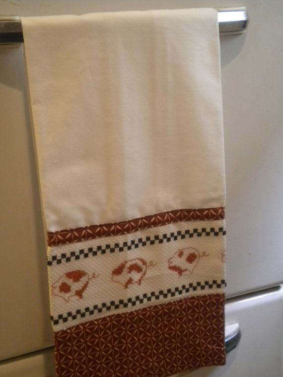 Captivating Pig Cross Stitched Kitchen Towel By GabeesCrafts On Etsy (Home U0026 Living,  Kitchen