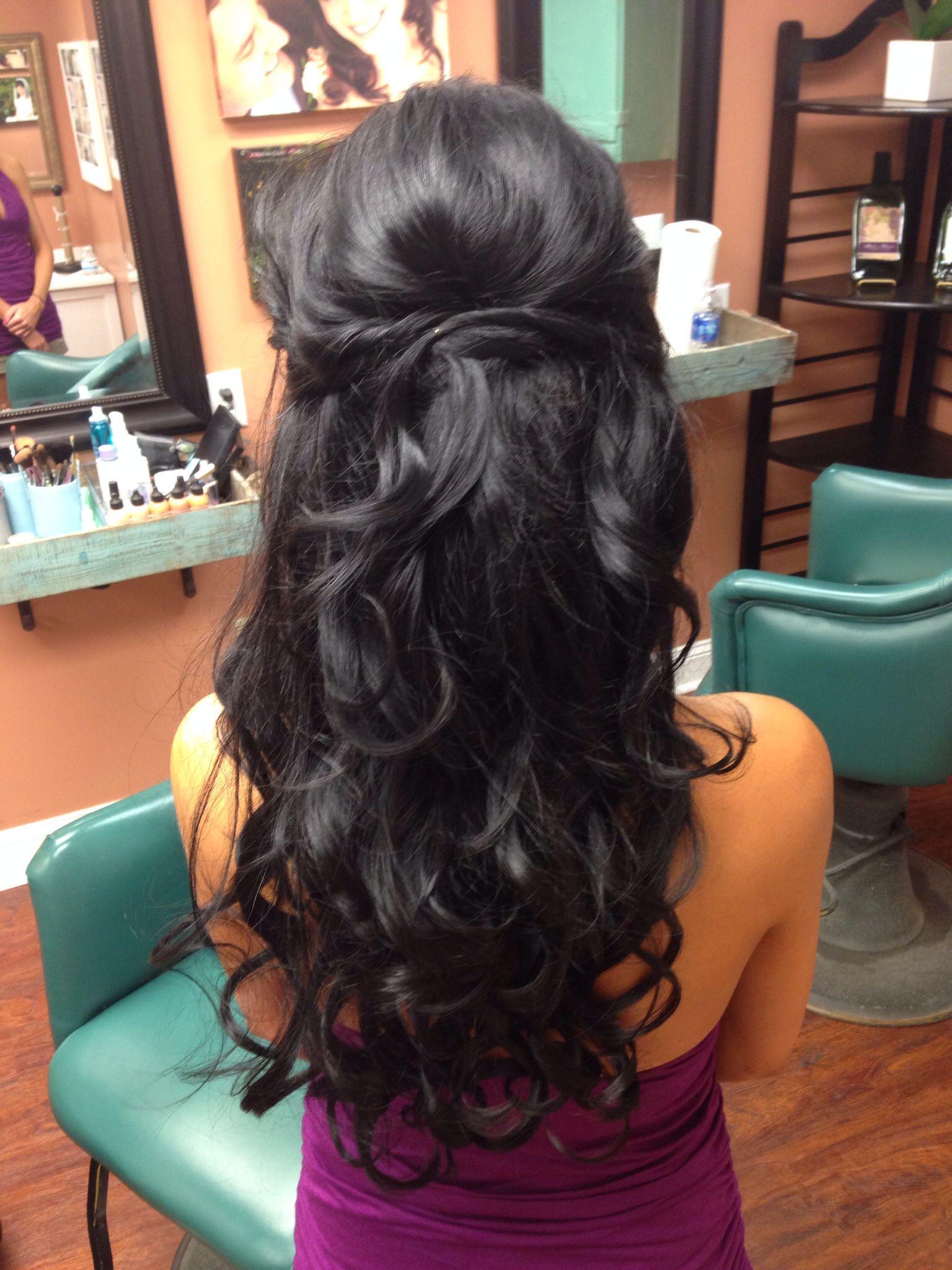 Wedding hair trial half up Hair ideas Pinterest Wedding