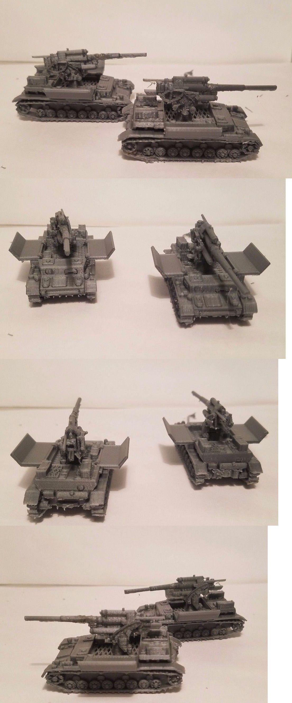 Armor 2588: 1 72 1:100 1:200 Panzer 4 88Mm Flak X2 Scale 3D