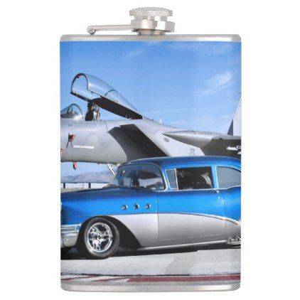 1955 Buick Special Classic Car Fighter Jet Flask Zazzle Com