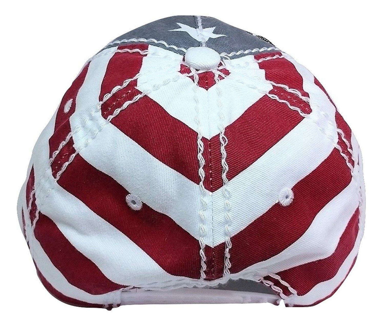 Large Rhinestone Flower Bling USA Theme Patriotic Baseball Cap - Red ... 055ece4b7a