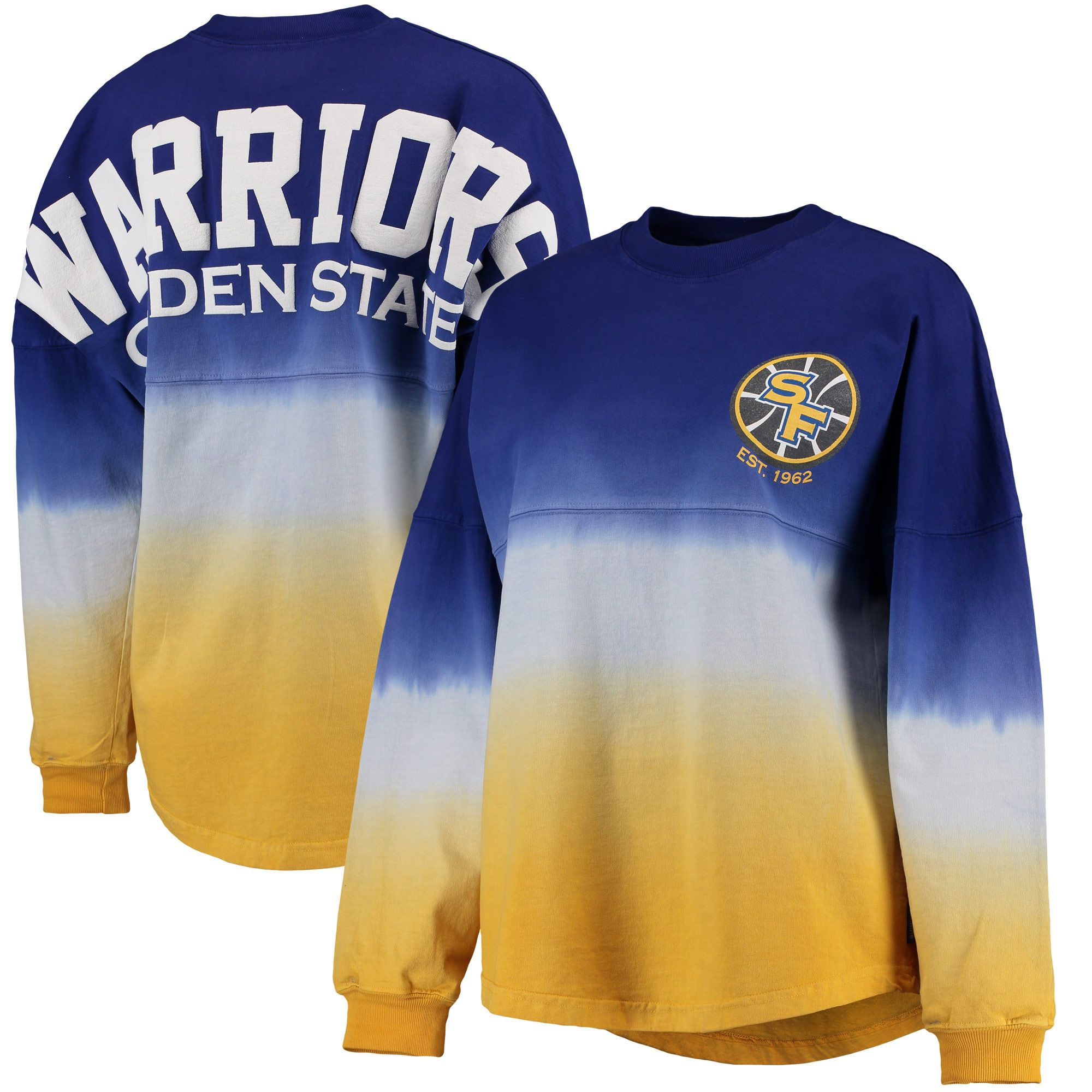 4186a9cc0 Golden State Warriors Fanatics Branded Women s Spirit Jersey Classic Long  Sleeve T-Shirt - Royal Gold