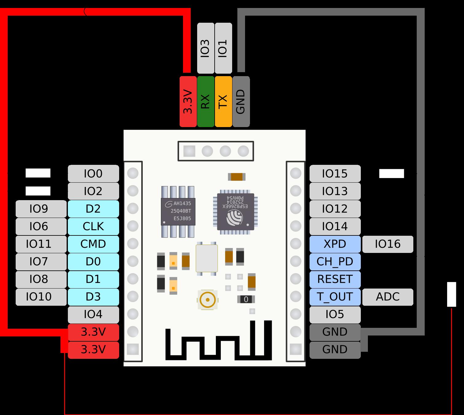 Flash-Verkabelung | Esp | Pinterest | Arduino