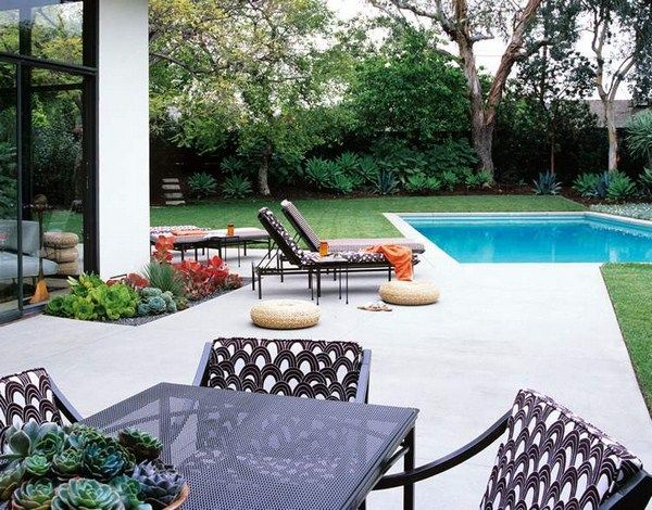 Terrace Slabs Make Patio Possibilities Adaptable Pool Magnolia Lawn