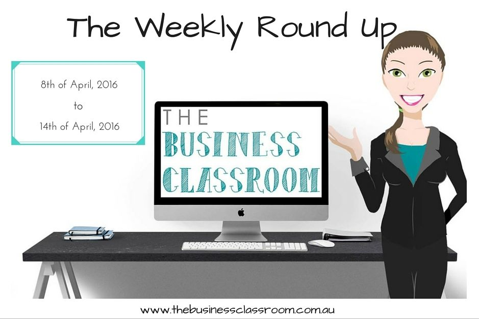The Weekly Round Up – 8th April – 14th April 2016